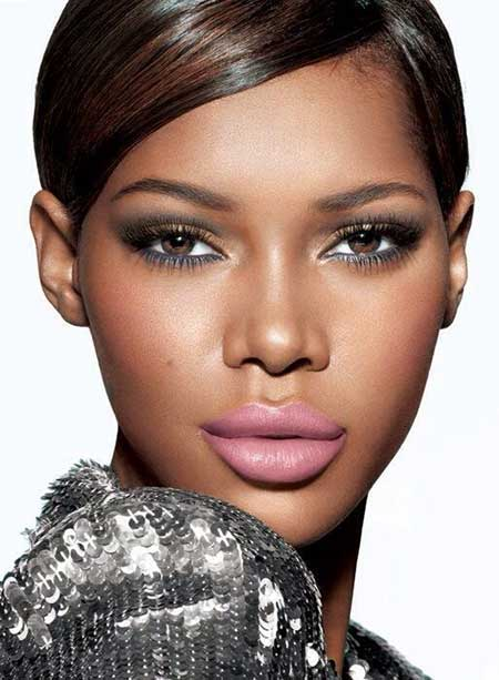 Short-Dark-Gorgeous-Hair Nice Short Haircuts for Black Women