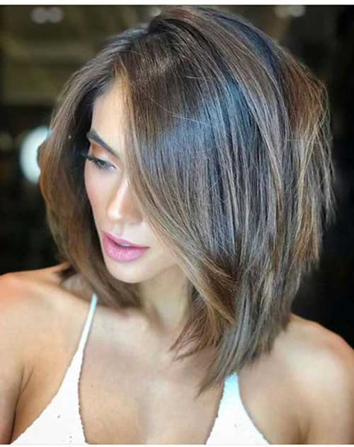 Short-Hair-with-Natural-Balayage Latest Trend Hair Color Ideas for Short Hair
