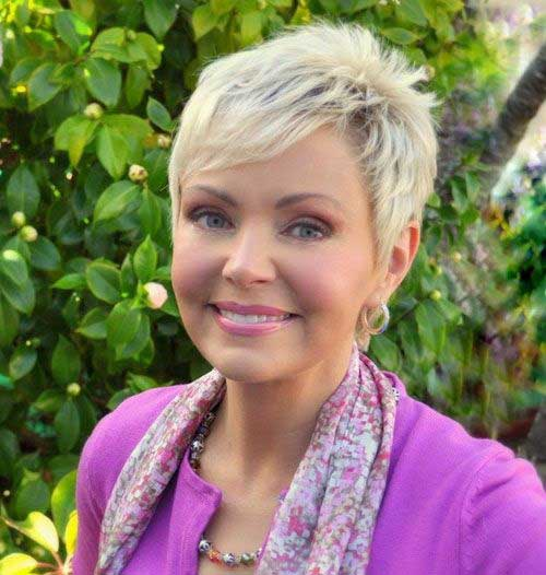 Short-Haircut-for-Older-Women-with-Thin-Hair Short Hairstyles for Older Women with Thin Hair