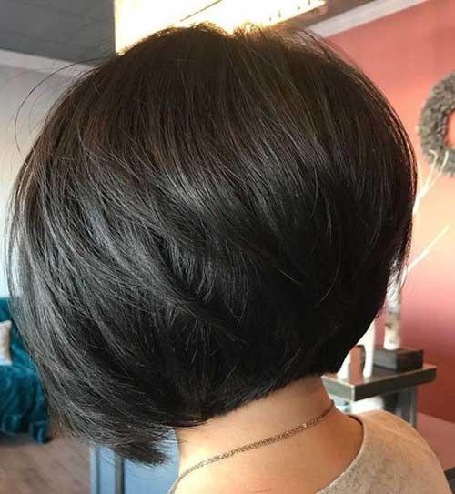 Short-Inverted-Brunette-Bob-Cut Latest Short Bob Haircuts for Women