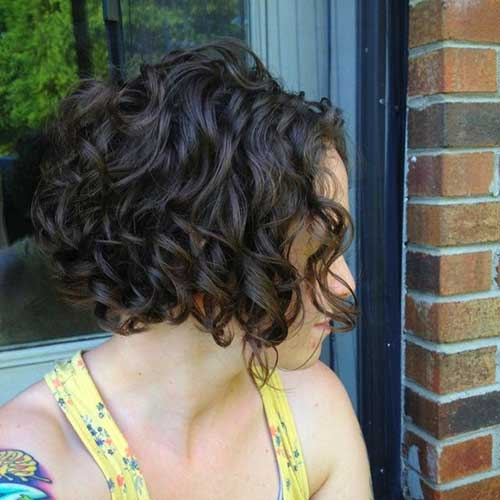 Short-Layered-Dark-Curly-Hairstyle Best Short Layered Curly Hair