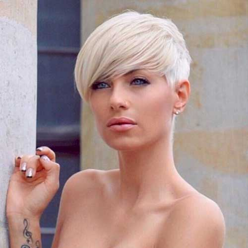 Short-Platinum-Blonde-Hairstyle Modern Short Blonde Hairstyles for Ladies