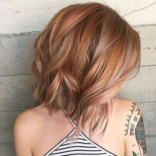 Short-Strawberry-Blonde-Hair-Color Latest Trend Hair Color Ideas for Short Hair