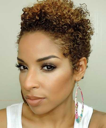 Short-Thin-Voluminous-Light-Curls Short Hairstyles for Black Women