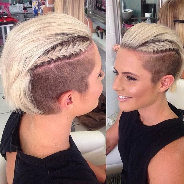 Short-Undercut-Hairstyle-with-Braids Awesome Undercut Hairstyles for Girls