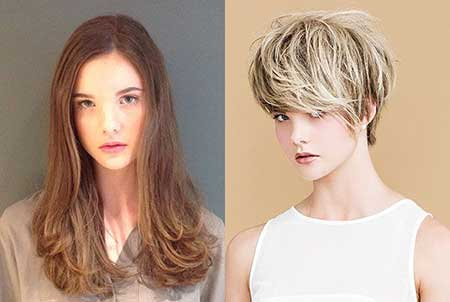 Short-Voluminous-Light-Blonde-Hair Short Trendy Hairstyles for Women