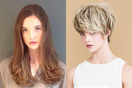 Short-Voluminous-Light-Blonde-Hair Short Trendy Hairstyles for Women