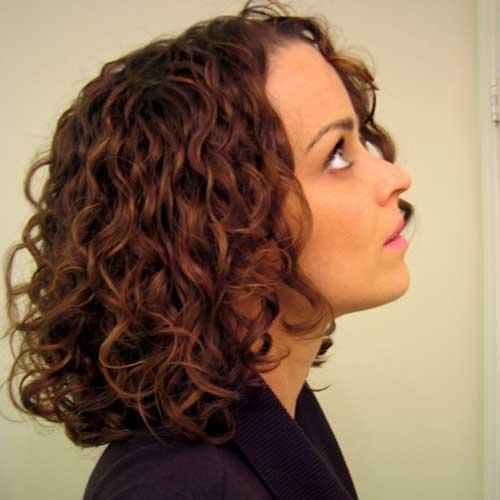 Short-Wavy-Bob-Hair-Style Very Short Curly Hair 2019