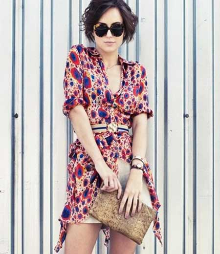 Short-Wavy-Filled-Bob Short Trendy Hairstyles for Women