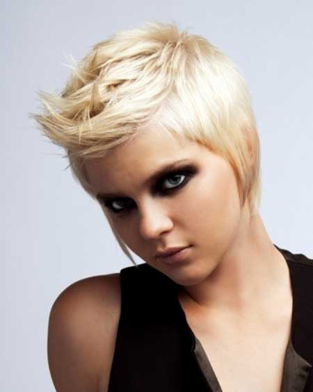 Short-and-Spiked-Style New Short Blonde Hairstyles