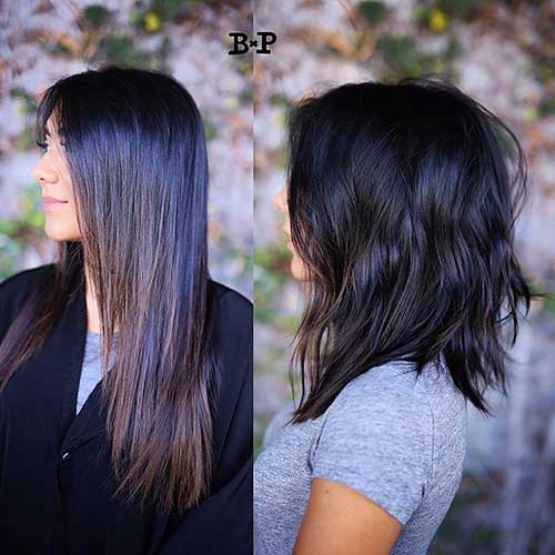Short-to-Medium-Hairstyle-for-Thick-Hair Short to Medium Hairstyles 2019