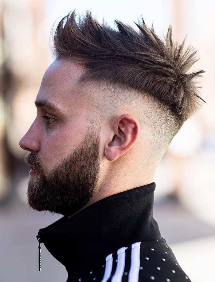 Spiky-Texture-with-Skin-Fade Stylish Undercut Hairstyle Variations For 2019