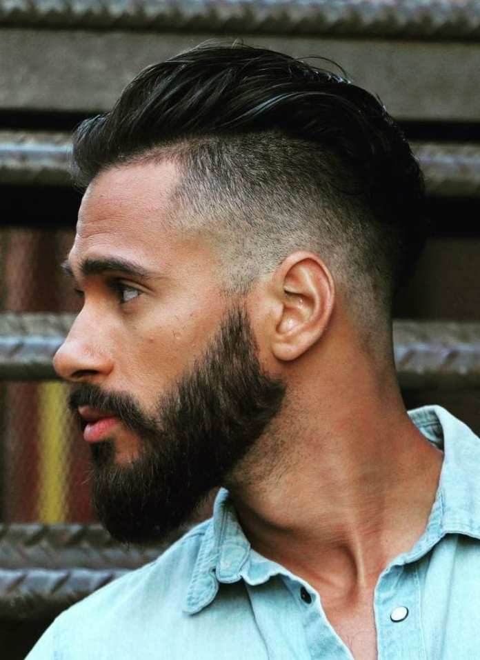 Street-style-Mid-Fade-with-Styled-Pompadour Stylish Undercut Hairstyle Variations For 2019