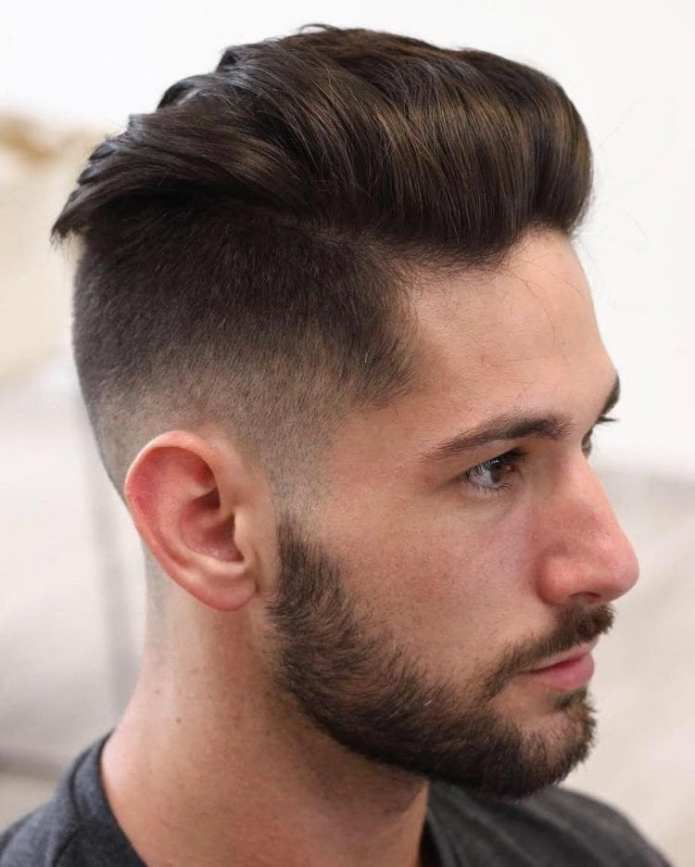 Taper-Fade-Brushed-Back-Undercut Stylish Undercut Hairstyle Variations For 2019