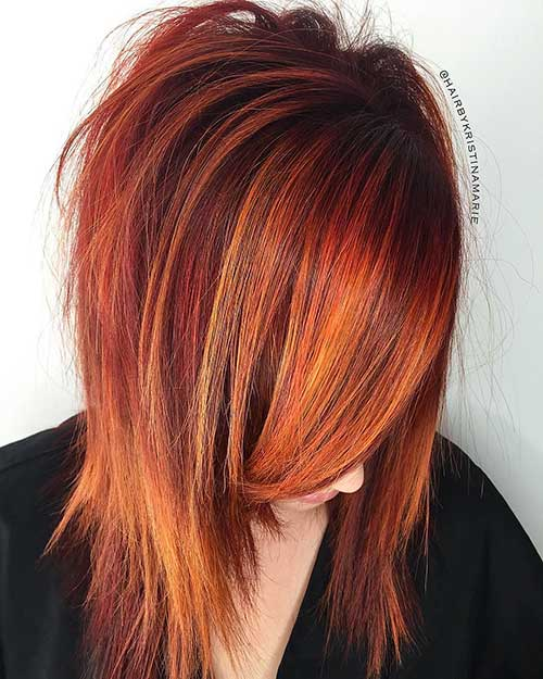The-Gorgeous-Tones-of-Autumn Eye-Catching Short Red Hair Ideas to Try