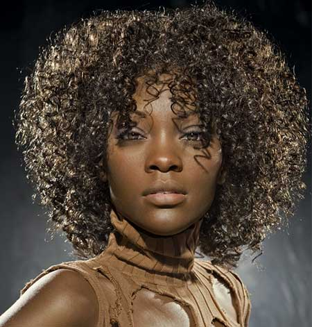 Thick-Numerous-Tight-Curls Short Hairstyles for Black Women