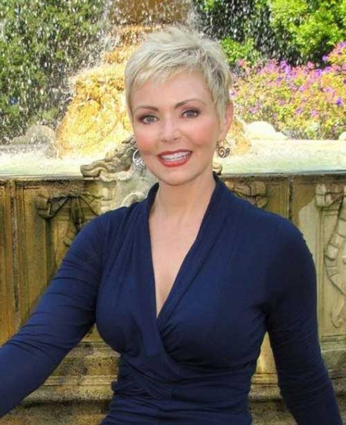 Too-Short-Pixie-Cut Short Hairstyles for Older Women with Thin Hair