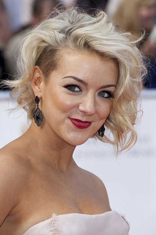 Undercut-Curly-Hairstyle Short and Curly Hairstyles 2019
