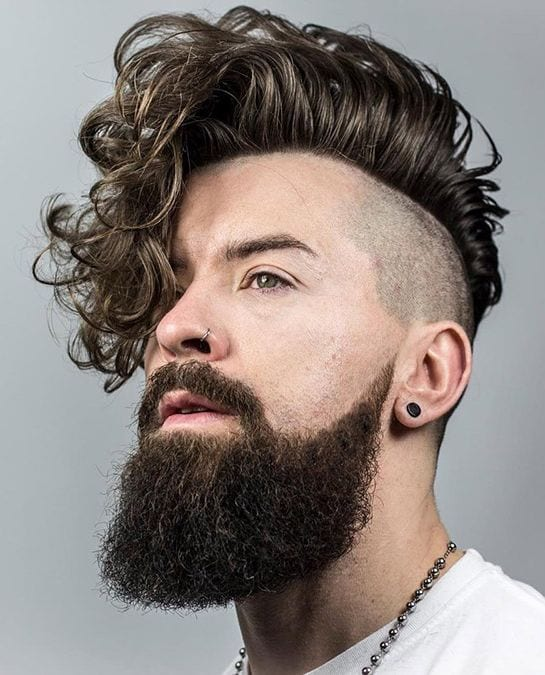 Undercut-Curly-Long-Hair Stylish Undercut Hairstyle Variations For 2019