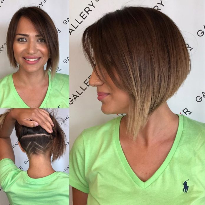 Undercut-Hairdo-with-Inverted-Bangs-on-Top Short Wavy Hairstyles 2019