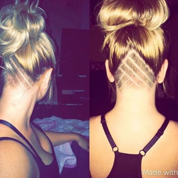 Undercut-Updo-Hairstyle Awesome Undercut Hairstyles for Girls