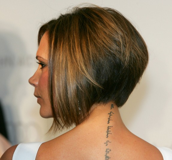 Victoria-Beckham-Inverted-Bob-Haircut-for-Short-Hair Popular Short Hairstyles for Women 2019