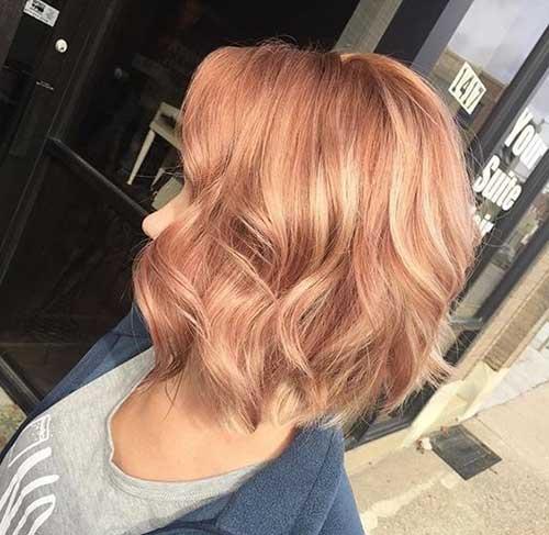 Warm-Blonde-Hair Latest Trend Hair Color Ideas for Short Hair