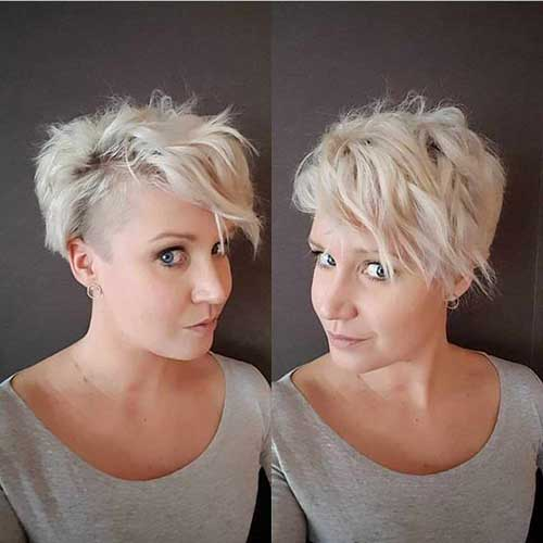 Wavy-Long-Pixie Best Pics of Layered Short Hair for Round Face