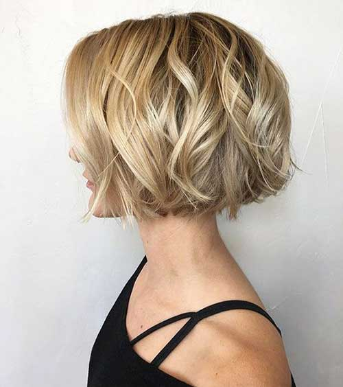 one-Length-Short-Hair Wavy Short Hair Styles for Chic Ladies