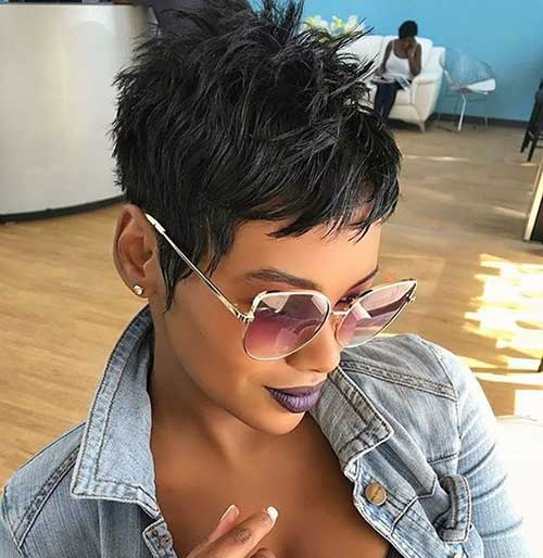 22.Short-Pixie-for-Black-Women Latest Short Pixie Cuts for Black Women