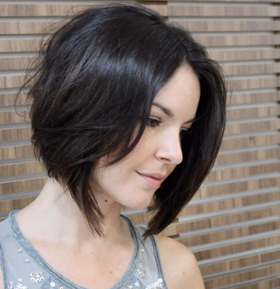 A-Line-Bob-Hairstyle-for-Fine-Hair Chic Short Hairstyles for Women 2019