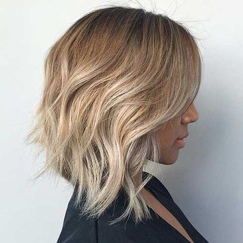 Angled-Lob Latest Short Hairstyles for An Amazing Look