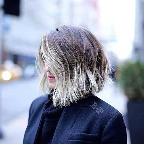 Ash-Blonde-Ombre-Bob Latest Short Hairstyles for An Amazing Look