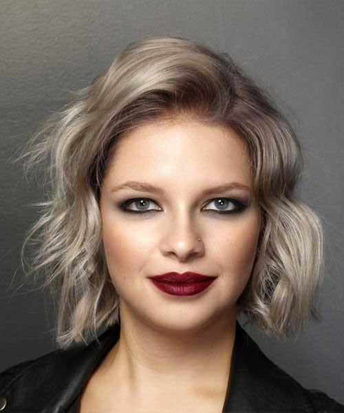 Ash-Blonde-Wavy-Bob Chic Ideas About Short Ash Blonde Hairstyles