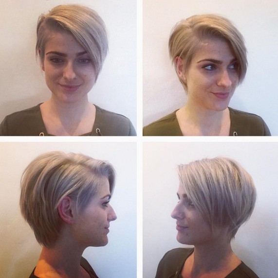 Asymmetric-Short-Hairstyle Beautiful Short Hairstyles for Round Faces 2019