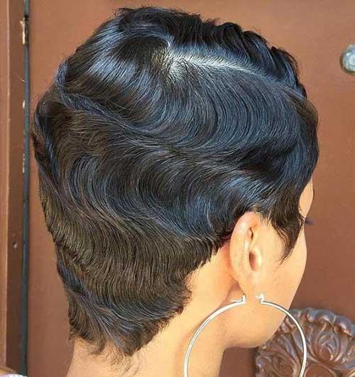 Back-View-Pixie-Black-Women Latest Short Pixie Cuts for Black Women