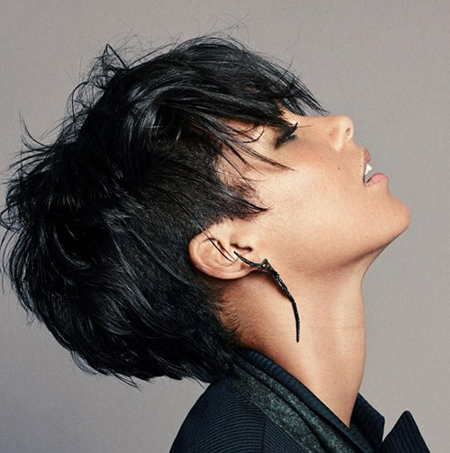 Black-Pixie-Hair Best Sassy Pixie Cuts 2019