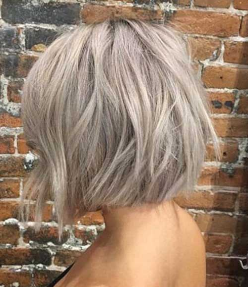 Blonde-Grey-Mix Chic Ideas About Short Ash Blonde Hairstyles
