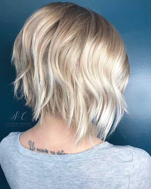 Blonde-Layered-Hair Back View Of Short Layered Haircuts