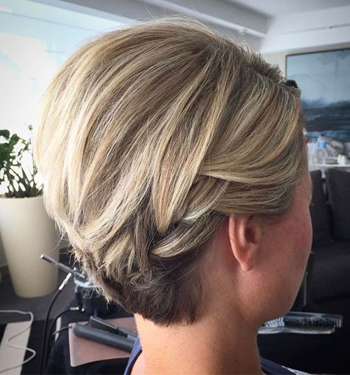 Blonde-Short-Hair-Cute-Updo Ideas of Cute Easy Hairstyles for Short Hair