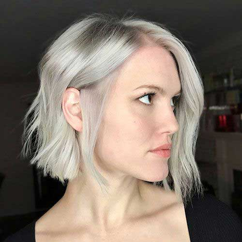 Blunt-Bob-Style Chic Ideas About Short Ash Blonde Hairstyles