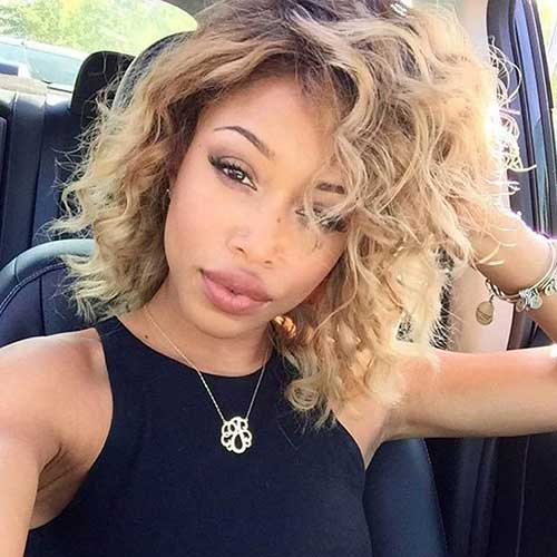 Bob-Hairstyle Best Short Curly Weave Hairstyles