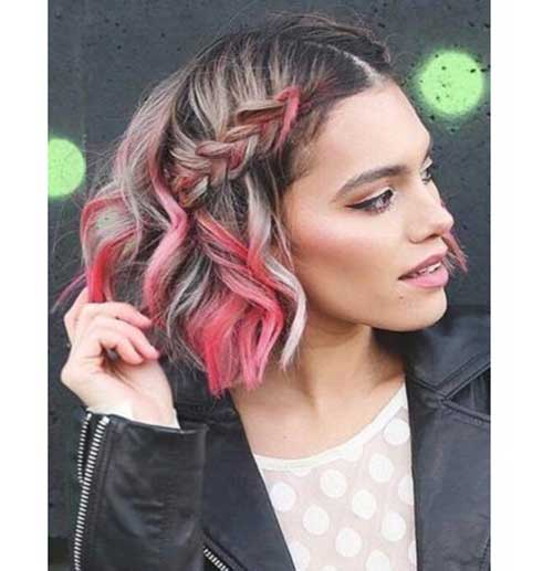 Braided-Cute-Hairstyle Easy Hairstyles for Short Wavy Hair with Best Ways