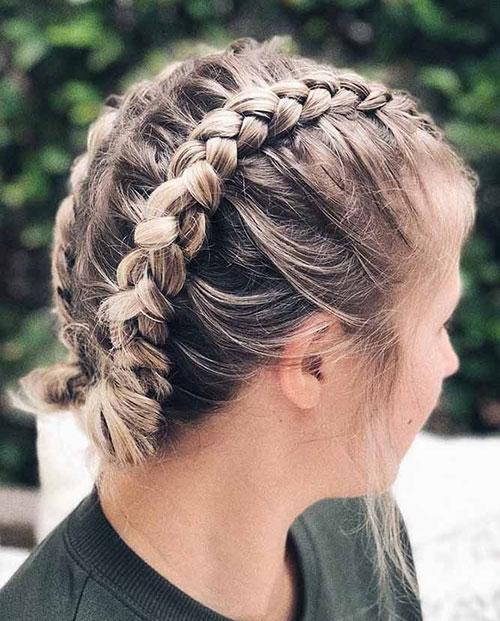 Cute-Braided-Hairstyle Ideas of Cute Easy Hairstyles for Short Hair