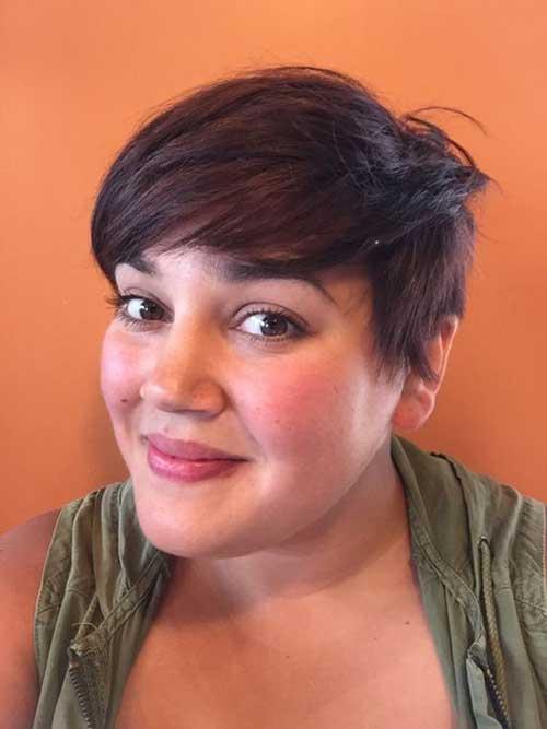Cute-Pixie-Haircut Pretty Short Haircuts for Chubby Round Face