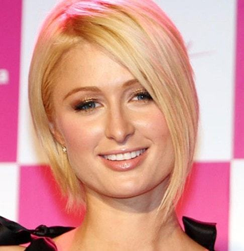Ear-tucked-asymmetrical-bob Hypnotic Short Hairstyles for Women with Square Faces