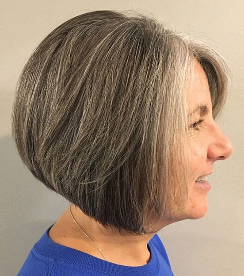 Easy-Bob-Cut Bob Haircuts for Older Women Chic Look