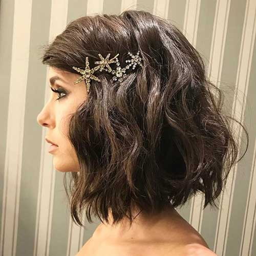 Easy-Hairstyle-Bob-Hair-Clips Easy Hairstyles for Short Wavy Hair with Best Ways