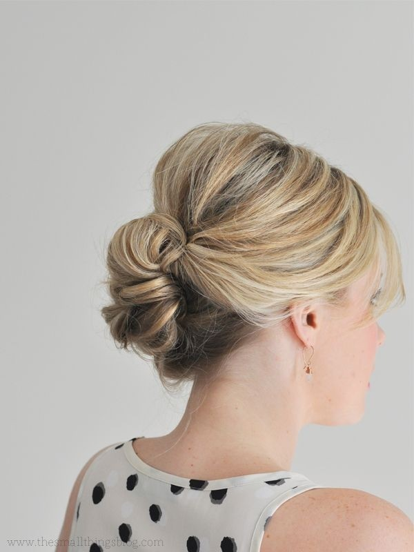 Easy-Updo-Hairstyle-for-Thin-Hair Beautiful Hairstyles for Thin Hair 2019