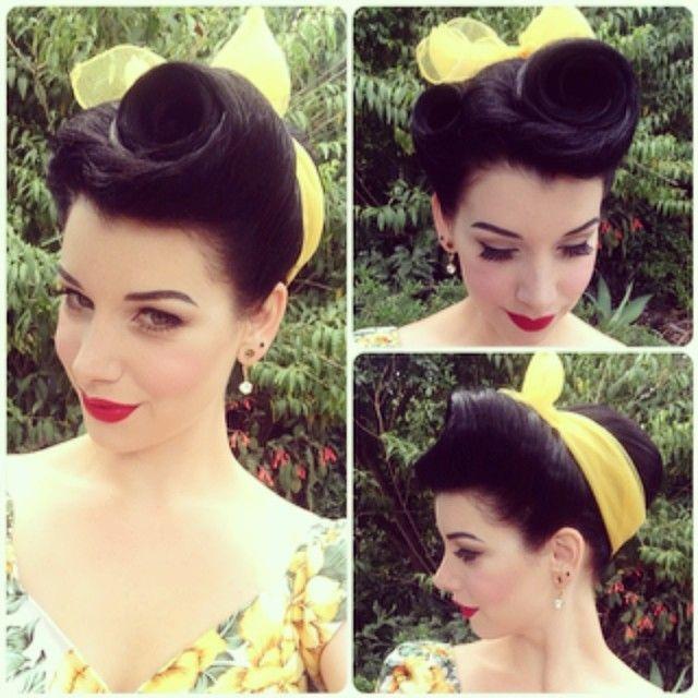 Easy-step-by-step-Retro-Hair-Tutorials-1 Elegant Retro Hairstyles 2019 – Vintage Hairstyles for Women